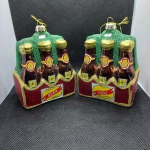 6 Pack Beer Ornaments (2pcs)